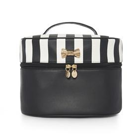 Black and white stripe vanity bag £5.00