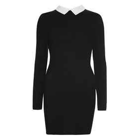 THIS! Black collared dress £12.00